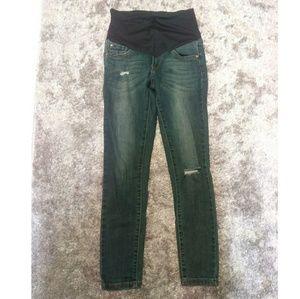 Pink Blush size 25 maternity skinny jeans